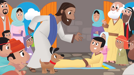 يسوع شفى المشلول